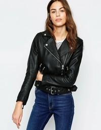 Черная байкерская куртка Muubaa Mannging - Черный