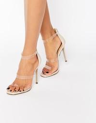 Легкие босоножки на каблуке Missguided Perspex - Телесный
