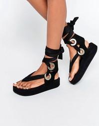 Черные сандалии на платформе KG By Kurt Geiger - Черный