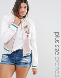 Куртка-пилот с вышивкой Alice & You - Розовый