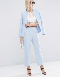 Фактурные зауженные брюки ASOS - Голубой