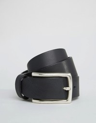 Кожаный ремень для джинсов ASOS - Черный
