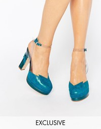 Сине-зеленые туфли на каблуке Terry de Havilland Direction
