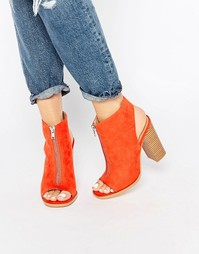 Замшевые ботильоны с открытым носком Glamorous - Bunt orange