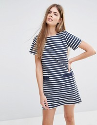 Платье-футболка в полоску Jack Wills - Темно-синие и белые полосы