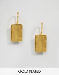 Прямоугольные серьги‑подвески Ottoman Hands - Золотой