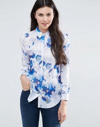 Блузка с синим цветочным принтом ASOS - Мульти