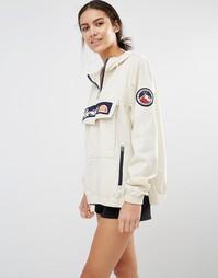 Куртка-пуловер с капюшоном и логотипом спереди Ellesse - Серая устрица