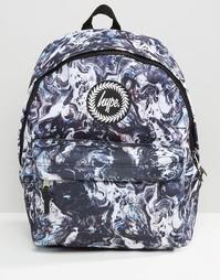 Рюкзак с мраморным принтом Hype - Черный