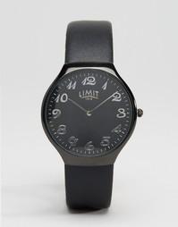 Черные часы с узким кожаным ремешком Limit - Черный