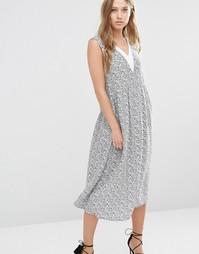 Платье миди с присборенной юбкой Y.A.S - Принт