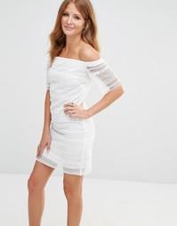Платье мини с вышивкой ришелье Millie Mackintosh - Белый