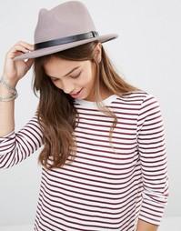 Фетровая шляпа с кожаной лентой Brixton - Естественный