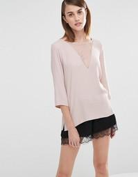 Кружевная блузка Selected Emro - Розовый
