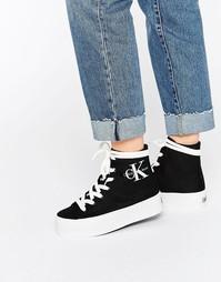 Черные высокие кроссовки Calvin Klein Jeans Zabrina - Черный