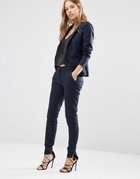 Темно-синие брюки кинни Y.A.S Mynte - Темно-синий