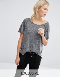 Серая меланжевая футболка Nocozo - Серый