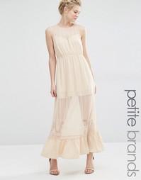 Платье макси с полупрозрачной вставкой Vero Moda Petite