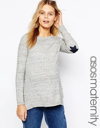 Джемпер для беременных с нашивками на локтях ASOS Maternity - Серый