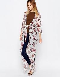 Кимоно макси с цветочным принтом Daisy Street