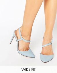 Туфли с заостренным носком для широкой стопы на каблуке ASOS PAL