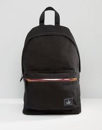 Черный холщовый рюкзак с переливающейся молнией ASOS - Черный