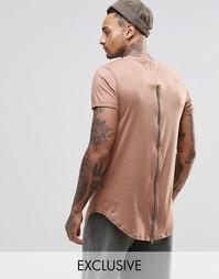 Длинная футболка Sixth June - Кэмел