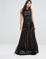 Платье макси с прозрачной отделкой A Star Is Born - Черный