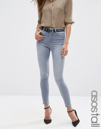 Серые джинсы скинни ASOS TALL RIDLEY - Серовато-стальной