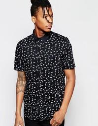 Рубашка с короткими рукавами и принтом Religion - Черный