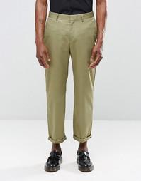 Укороченные брюки цвета хаки с прямыми штанинами Religion - Хаки