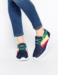 Кроссовки с цветными вставками YRU Beam High - Деним