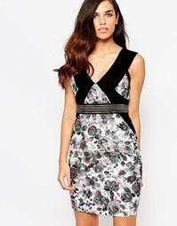 Платье с цветочным принтом Lashes Of London Felix - Мульти