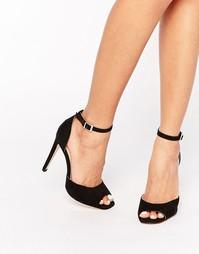 Туфли на каблуке с открытым носком и ремешком на щиколотке Boohoo