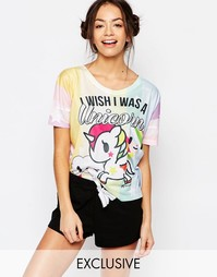 Пижамный комплект Missimo Tokidoki I Wish I Was A Unicorn - Розовый