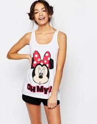 Пижамный комплект с шортами Missimo Disney Minnie Mouse - Красный