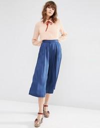 Юбка-брюки ASOS Luxe - Темно-синий