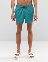 Сине-зеленые шорты для плавания средней длины ASOS - Сине-зеленый
