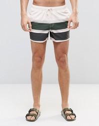 Укороченные шорты для плавания с полосками ASOS - Мульти