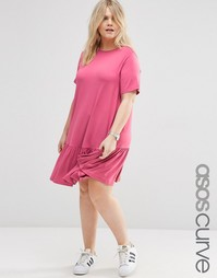Свободное платье ASOS CURVE - Розовый