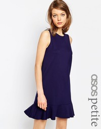 Платье с оборкой по краю из плотной ткани понте ASOS PETITE