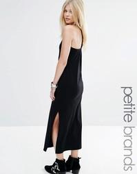 Платье макси с боковым разрезом и Т-образной вставкой Vero Moda Petite