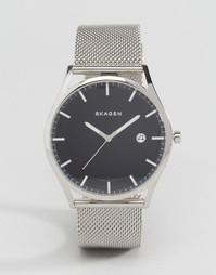 40 мм кварцевые часы из нержавеющей стали Skagen Holst - Серебряный