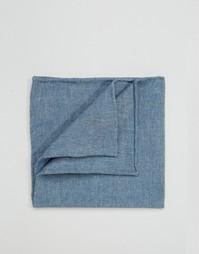 Платок для пиджака из шамбре Noose & Monkey - Синий