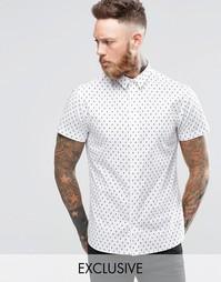 Рубашка с принтом череп и короткими рукавами Noose & Monkey - Белый