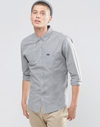 Brixton Shirt With Front Pocket In Regular Fit - Серый