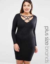 Missguided Plus Harness Bodycon Dress - Черный