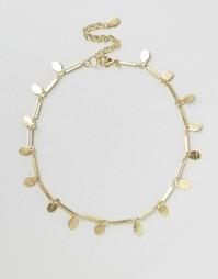 Ожерелье-чокер с дисками Glamorous - Золотой