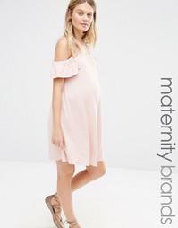 Свободное платье для беременных с открытыми плечами Bluebelle Maternit