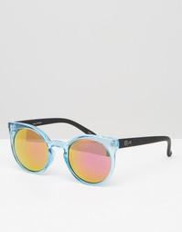 Круглые солнцезащитные очки кошачий глаз с зеркальными стеклами Quay A